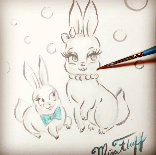 Bunny Sketch by Miss Fluff