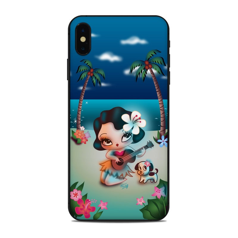 Cute retro hula girl phone skins by Miss Fluff