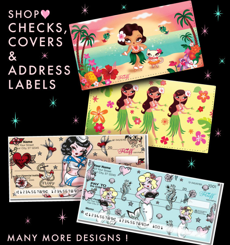 cute checks and checkbook covers by miss fluff