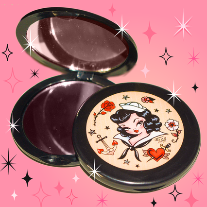 vintage inspired pinup girl sailor makeup mirror