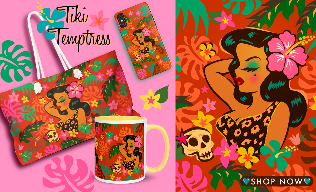 Rockabilly Pinup Tattoo flash accessories by Miss Fluff